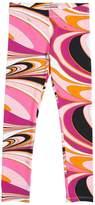 Emilio Pucci Printed Viscose Jersey Leggings