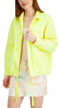 French Connection Sekai Neon Denim Jacket