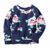 Carter's Girl Navy Floral Knit Fashion Top 4-8