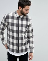 ONLY & SONS Zipped Flannel Check Shirt
