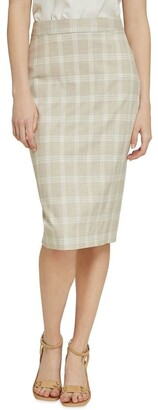 Oxford Peggy Check Suit Skirt Lt