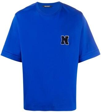 Neil Barrett towelling initial logo T-shirt