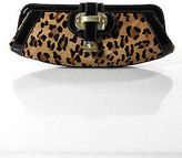 Rafe New York MultiColor Leather PonyHair Animal Print Small Gold Tone Clutch
