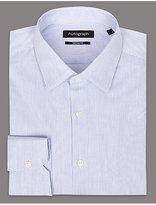 Autograph Pure Cotton Tailored Fit Striped Shirt