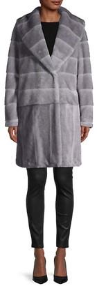 Donna Karan Faux Fur Coat