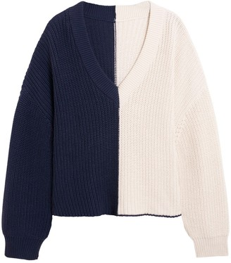 Valentine Witmeur Navy And Off-white Sweater