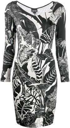 Just Cavalli leaf print dress