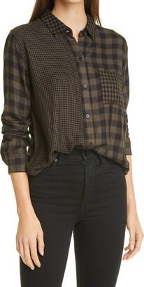 Rails Hunter Mixed Plaid Button-Up Shirt