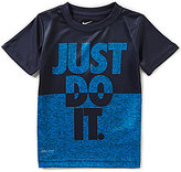 Nike Little Boys 2T-7 Dri-FIT Just Do It Spliced Short-Sleeve Tee