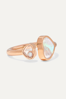 Chopard Happy Hearts 18-karat Rose Gold, Diamond And Mother-of-pearl Ring - 50