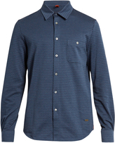 Missoni Chevron long-sleeved brushed-cotton shirt