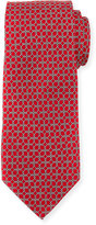 Neiman Marcus Boxed Chain-Pattern Silk Tie, Red