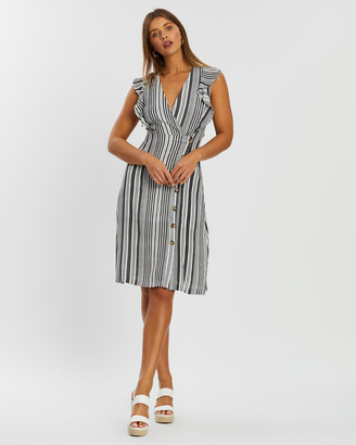 Atmos & Here Lauren Striped Button Dress