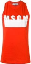 MSGM logo print tank - women - Cotton - XS