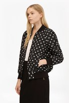 French Connection Dotty Spot Reversible Bomber Jacket