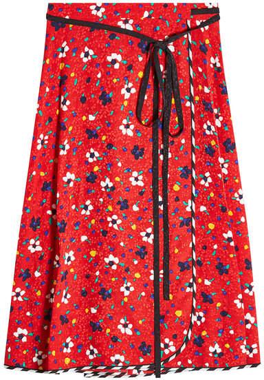 Marc Jacobs Printed Silk Wrap Skirt