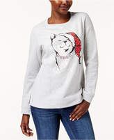 Karen Scott Petite Embellished Cat Holiday Sweatshirt