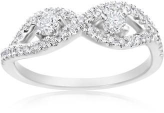 Summerrose Jewelry Summer Rose 14k White Gold 2/5ct TDW Diamond Forever 2-stone Ring