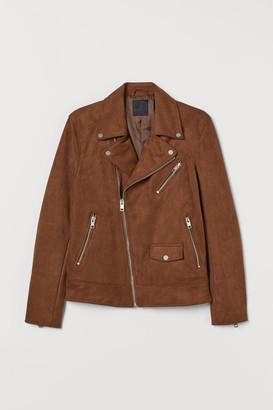 H&M Imitation suede biker jacket