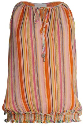 Ramy Brook Helen Sleeveless Printed Silk Top