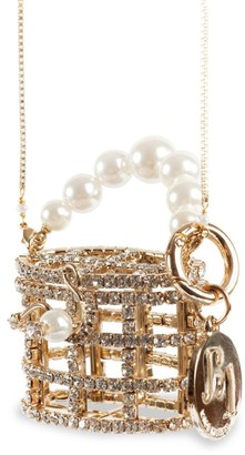 Rosantica Baby Holli Embellished Top Handle Clutch