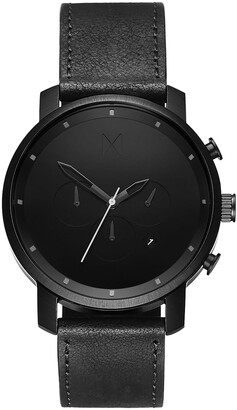 MVMT Chrono Chronograph Leather Strap Watch, 45mm