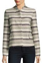 Lafayette 148 New York Grid-Jacquard Print Jacket