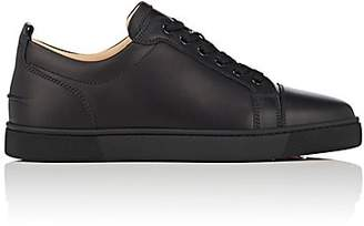 Christian Louboutin Men's Louis Jr Flat Leather Sneakers - Black