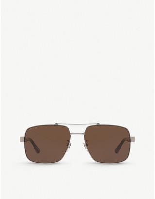 Gucci GG0529S metal and acetate aviator sunglasses