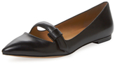 Marc by Marc Jacobs Seditionary Leather Pointed-Toe Flat