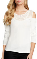 Jessica Simpson Rosarie Long Sleeve Roundneck Top