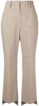 System Check Print Trousers