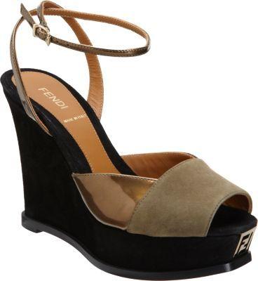 Fendi Fendista Platform Wedge Sandal