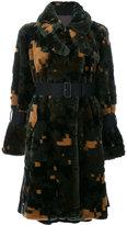 Sacai cross pixel faux fur coat - women - Acrylic/Modacrylic/Polyester/Cupro - 2