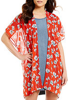 So It Is Floral Printed Kimono