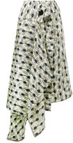 Marni Garland print asymmetric skirt - women - Silk - 38