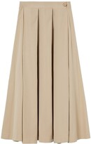 Thumbnail for your product : A Line Clothing A-line Clothing - Seashell Side Splits Cotton Midi Skirt