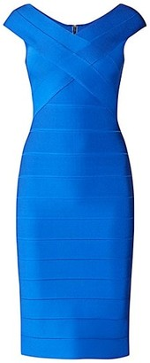 Herve Leger Icon Crossover Bust Bodycon Dress