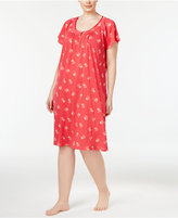 Charter Club Plus Size Printed Chemise, Created for Macy's