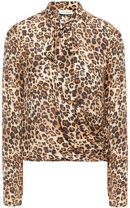 Nicholas Pussy-bow Leopard-print Silk Crepe De Chine Blouse