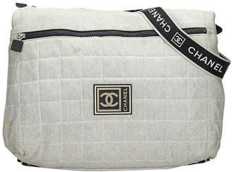 Chanel Gray Cotton Sports Line Crossbody Bag