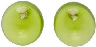 Nina Ricci Green Blown Glass Earrings