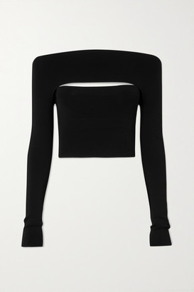 Dion Lee Convertible Stretch-jersey Top - Black