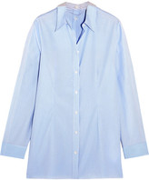 MM6 MAISON MARGIELA Striped Cotton-poplin Shirt - Sky blue