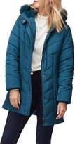 Jacques Vert Jamie Faux-Fur Trim Padded Coat