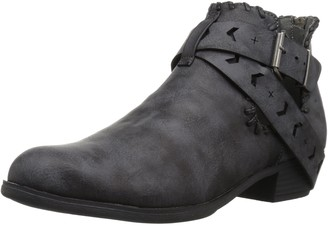 Sugar Women's Tiggles Open Side Festival Buckle Boho Ankle Bootie Boot