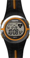 Dakota Black and Orange Heart Rate Monitor Watch 36909