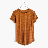 Madewell Whisper Cotton Crewneck Tee in Larke Stripe