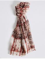 M&S Collection Rebel Check Scarf