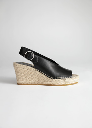 And other stories Leather Espadrille Wedges